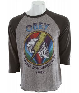 Obey World Tour 1989 T-Shirt Heather Grey/Graphite