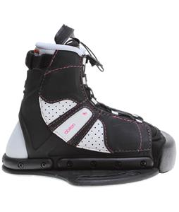 O'Brien Vixen Wakeboard Bindings Black/White/Pink