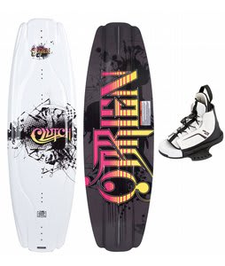 O'Brien Clutch Wakeboard 142 w/ Kick Bindings Black