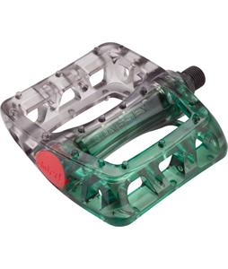 Odyssey Twisted PC BMX Pedals Lime/Smoke 9/16in