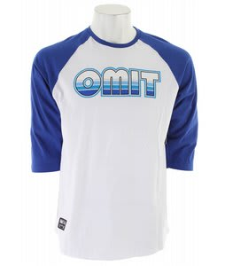 Omit 70's Sunset Raglan T-Shirt True Blue