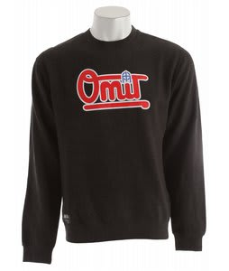 Omit Bases Loaded Crew T-Shirt Charcoal Heather