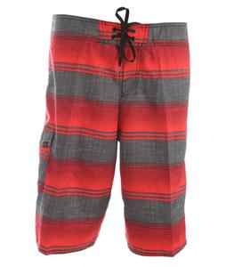 O'Neill Santa Cruz Stripe Boardshorts Red
