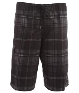O'Neill Santa Cruz Plaid Boardshorts Black