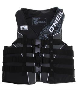 O'Neill Superlite USCG Wakeboard Vest Black/Metallic/Black White