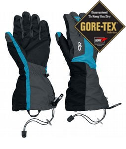 Outdoor Research Arete Ski Gloves Charcoal/Turquoise