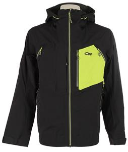 Outdoor Research White Room Gore-Tex Ski Jacket Black/Lemongrass