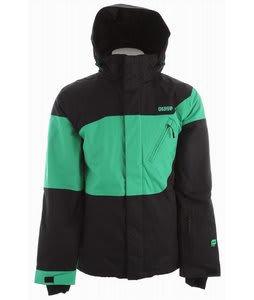 Orage Lloyd Ski Jacket Black/True Green Combo