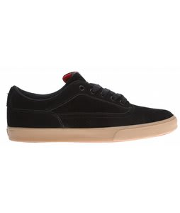 Osiris Caswell Vulc Skate Shoes Black/Red/Gum