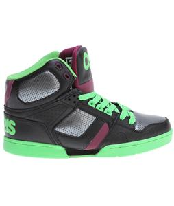 Osiris NYC83 Skate Shoes Black/Green/Plum