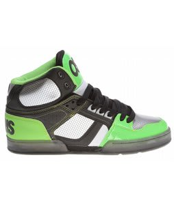 Osiris NYC83 Skate Shoes Black/Gunmetal/Lime