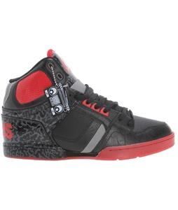 Osiris NYC 83 Skate Shoes Black/Red/Elephant