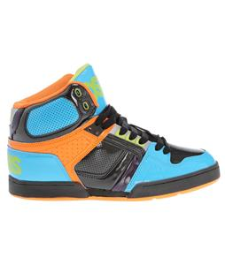 Osiris NYC83 Skate Shoes Cyan/Black/Orange
