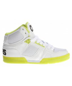 Osiris NYC83 Skate Shoes White/Lime/White