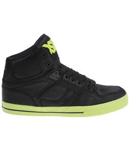 Osiris NYC83 VLC Skate Shoes Black/Black/Lime