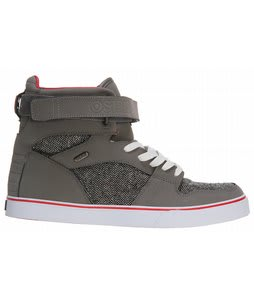 Osiris Rhyme Remix Skate Shoes Charcoal/Wool/Red