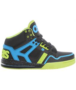 Osiris Rucker Skate Shoes Black/Lime/Cyan