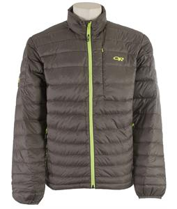 Outdoor Research Transcendent Sweater Jacket Pewter/Lemongrass