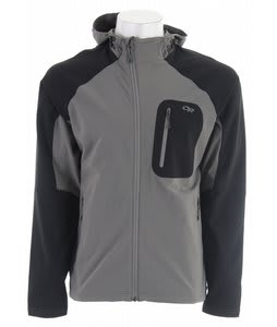 Outdoor Research Ferrosi Hoody Softshell Jacket Pewter/Black