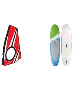 Next Softsup/Windsurfer SUP Paddleboard w/ Aerotech Windsup Rig
