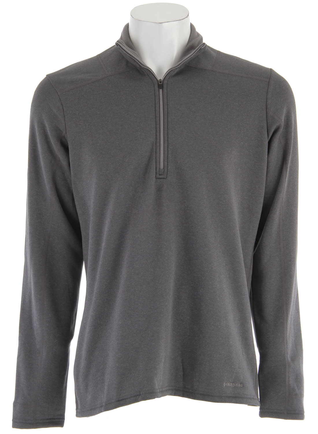 Patagonia Capilene 4 Expedition Weight Zip-Neck Baselayer Top Forge Grey - Narwhal Grey Xdye - Men's