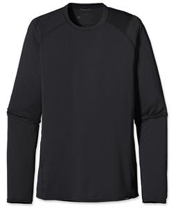 Patagonia Capilene 1 Silkweight Crew Baselayer Top Black