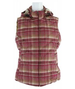 Patagonia Down With It Vest Headlands Plaid Magenta