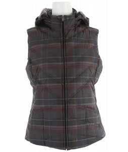 Patagonia Down With It Vest Headlands Plaid Raven
