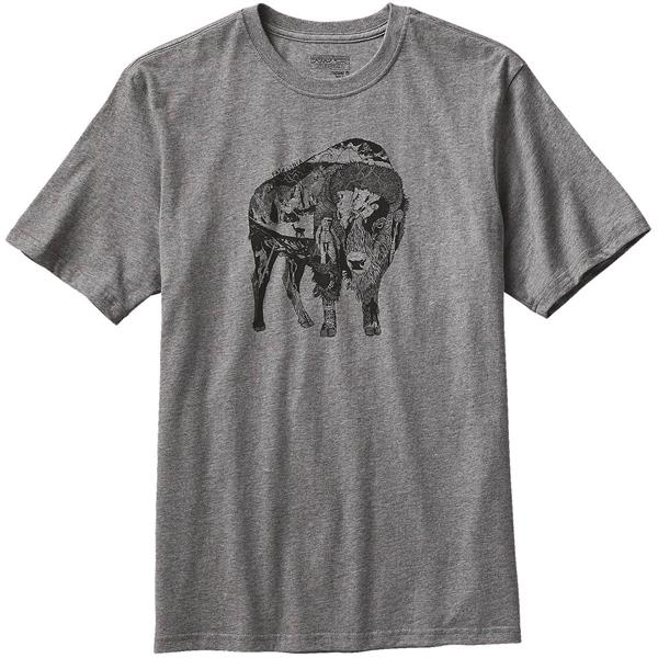 Patagonia Illustrated Buffalo Cotton T-Shirt