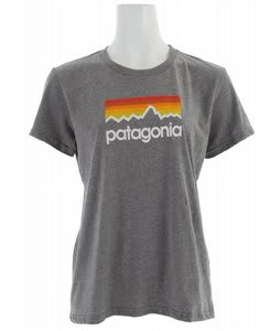 Patagonia Line Logo T-Shirt Gravel Heather