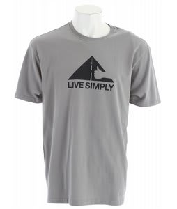 Patagonia Live Simply Thumbs Up T-Shirt Feather Grey