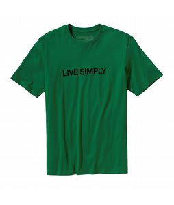 Patagonia Live Simply Text T-Shirt Shamarock Green