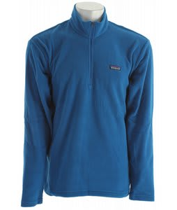 Patagonia Micro D 1/4 Zip Fleece Bandana Blue