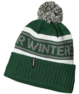 Patagonia Powder Town Beanie Pow Stripe/Malachite Green