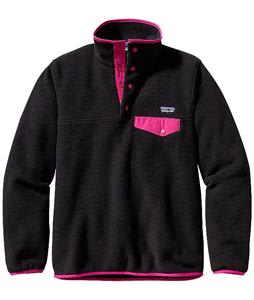 Patagonia Synchilla Lightweight Snap-T Pullover Fleece Black w/ Radiant Magenta