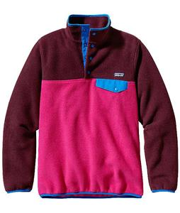 Patagonia Synchilla Lightweight Snap-T Pullover Fleece Radiant Magenta w/ Dark Currant