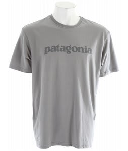 Patagonia Text Logo T-Shirt Feather Grey