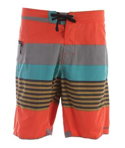 Patagonia Wavefarer 21In Boardshorts Fitz Stripe/Paintbrush Red
