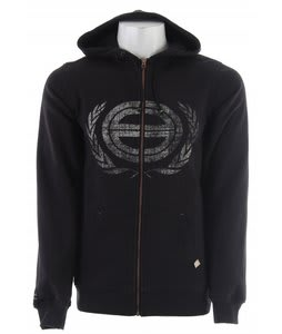 Planet Earth Bruce Fullzip Hoodie Graphite Black