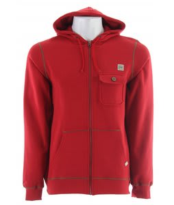 Planet Earth Donner Fullzip Hoodie Texas Red
