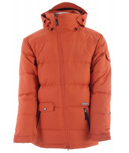 Planet Earth Down Snowboard Jacket Heat Wave Orange