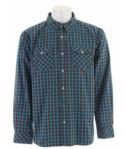 Planet Earth Foliage L/S Shirt Blue Jewel
