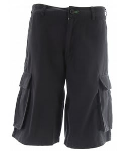 Planet Earth Griffin Cargo Shorts Graphite Black