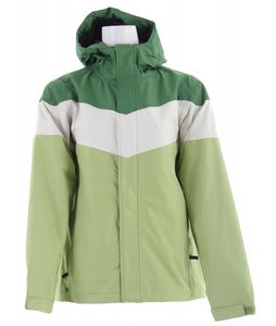 Planet Earth Striped Snowboard Jacket Crabgrass Green Celery/Sprout