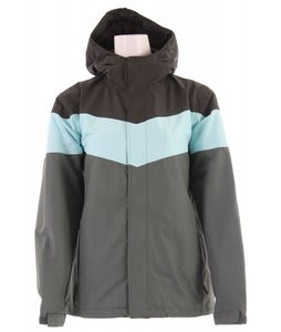 Planet Earth Striped Snowboard Jacket Swamp Green/Aqua Rainy Day
