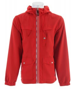 Planet Earth Trent Windbreaker Texas Red