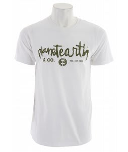 Planet Earth Type T-Shirt Bright White