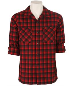 Pendleton Board Fitted Shirt Red/Black Ombre