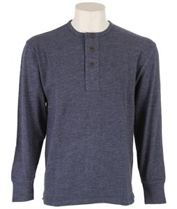 Pendleton Henley Shirt Dark Denim Mix