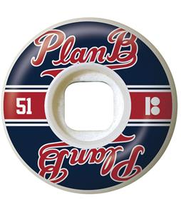 Plan B Past Time Skateboard Wheels Black/Red 51mm
